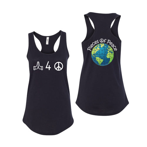 Pray For Peace Racerback Tank Top - Black