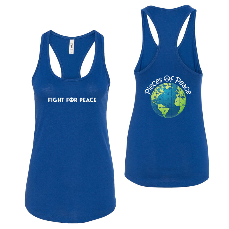 Fight For Piece Racerback Tank Top - Royal