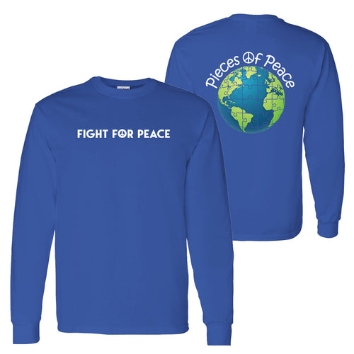Fight For Peace Unisex Long-Sleeve T-shirt - Royal