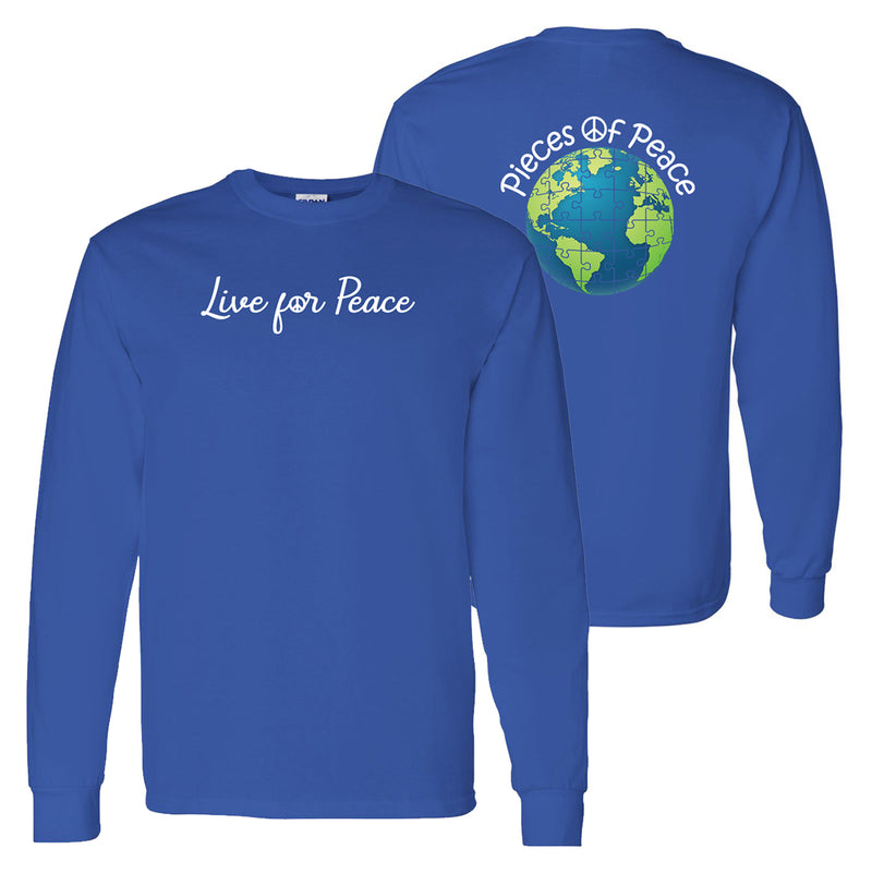 Live For Peace Unisex Long-Sleeve T-shirt - Royal
