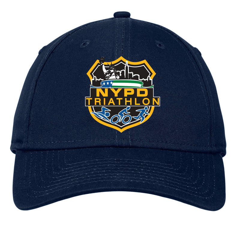 NYPD Triathlon Full Color Logo Structured Hat - Deep Navy