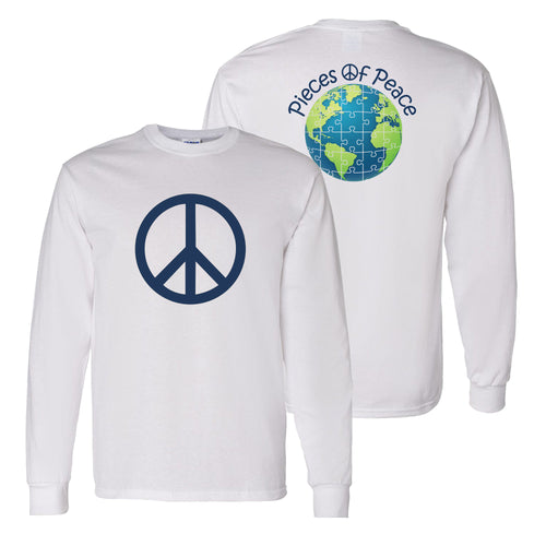 Peace Sign Unisex Long-Sleeve T-shirt - White