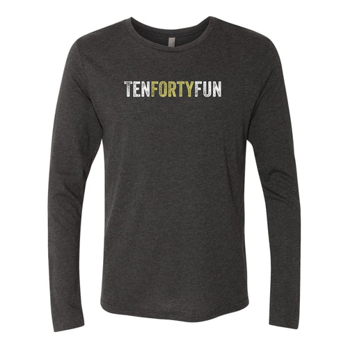 Ten Forty Fun Logo Longsleeve Triblend T-shirt - Black