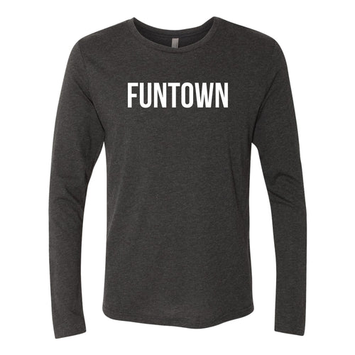 Funtown Center Logo Longsleeve Triblend T-shirt - Black
