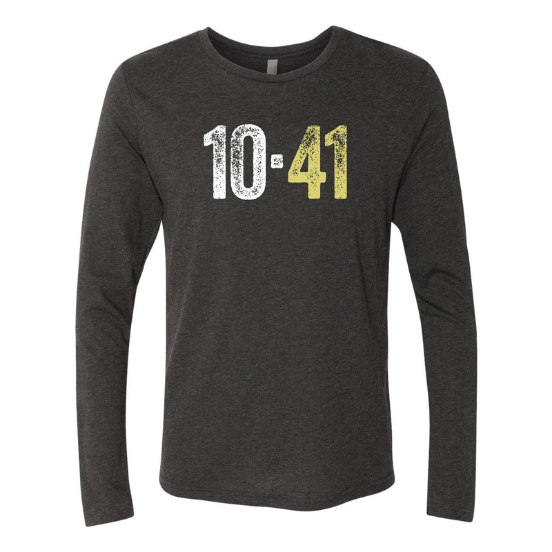 10-41 Center Logo Longsleeve Triblend T-shirt - Black