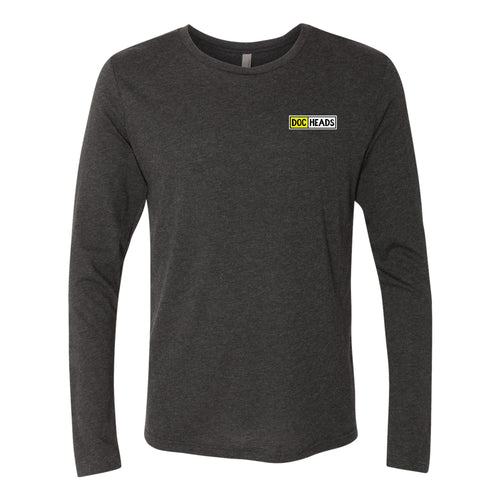 DocHeads Left Chest Logo Longsleeve Triblend T-shirt - Black