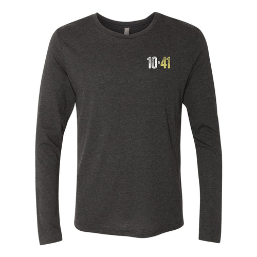 10-41 Left Chest Logo Longsleeve Triblend T-shirt - Black
