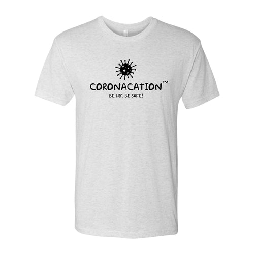 Coronacation Black Logo Triblend T-shirt - Heather White