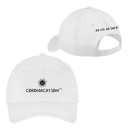 Coronacation Black Logo Hat - White