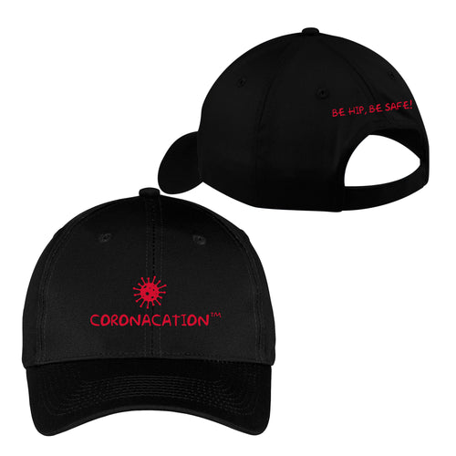 Coronacation Red Logo Hat - Black