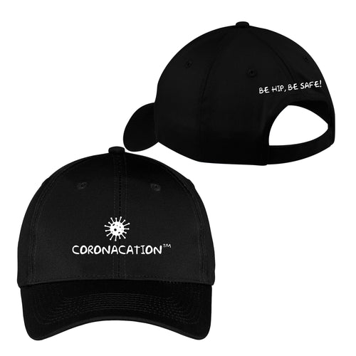 Coronacation White Logo Hat - Black
