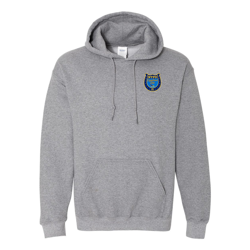 NYPD Equestrian Sport Logo Hoodie Left Chest - Graphite Heather