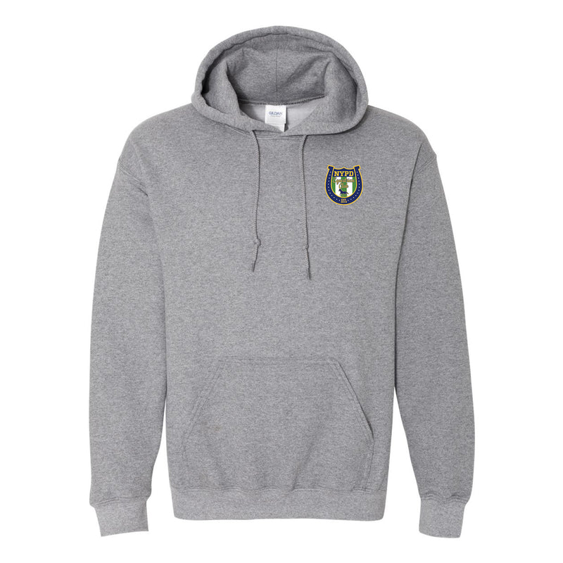 NYPD Equestrian Traditional Logo Hoodie Left Chest - Graphite Heather