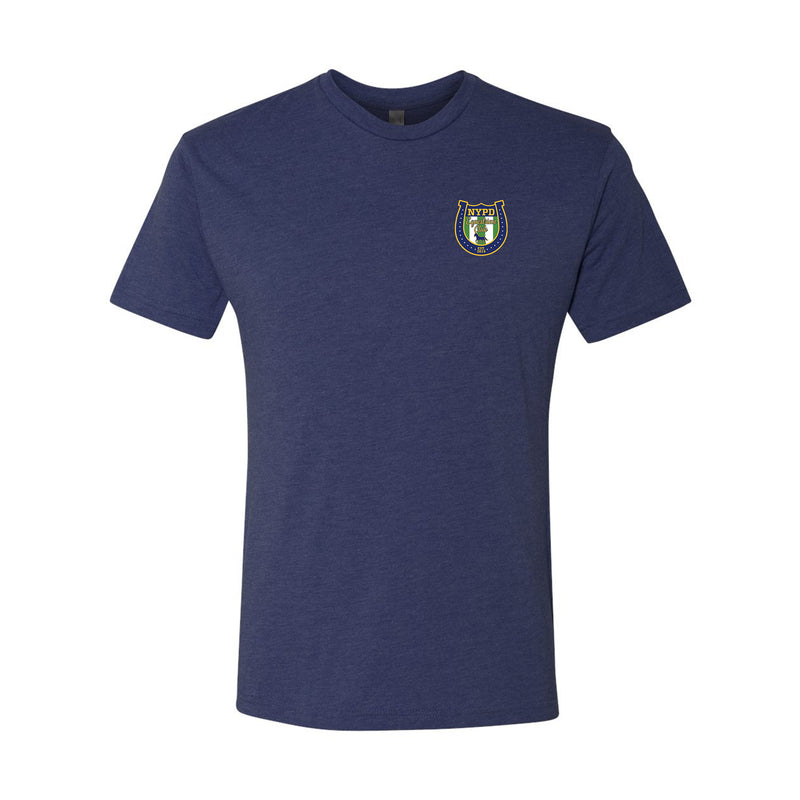 NYPD Equestrian Traditional Logo T-shirt Front Only - Navy