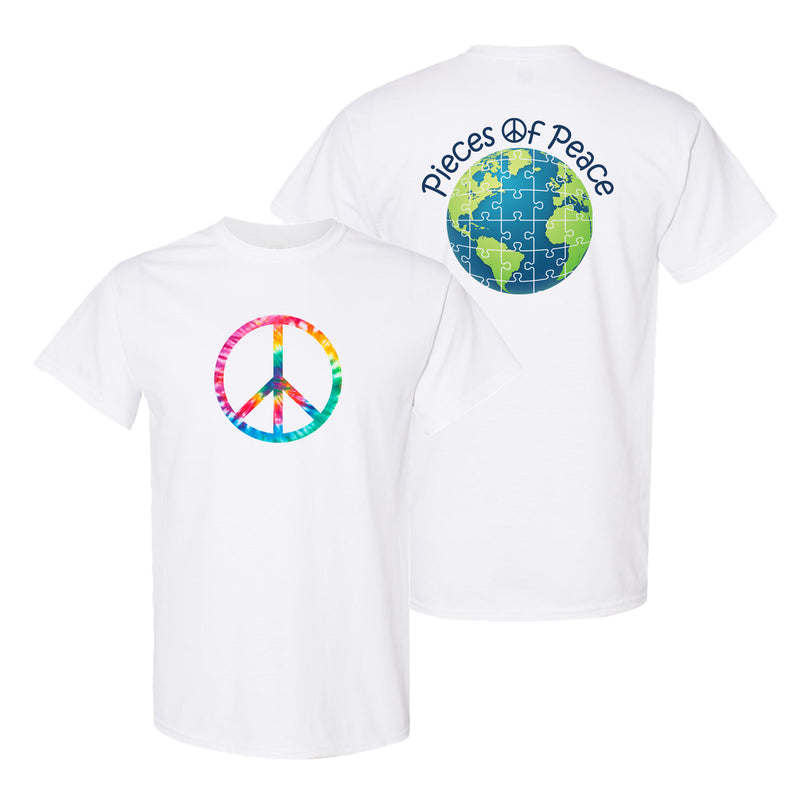 Rainbow Peace Sign Unisex T-shirt - White