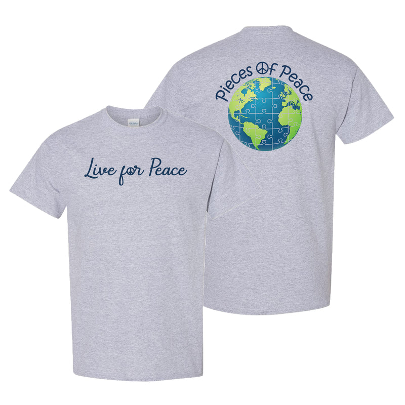 Live For Peace Unisex T-shirt - Grey