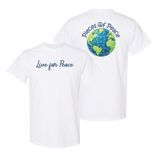 Live For Peace Unisex T-shirt - White