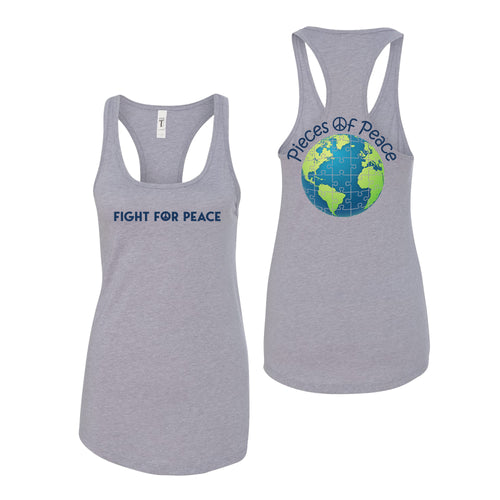 Fight For Peace Racerback Tank Top - Black