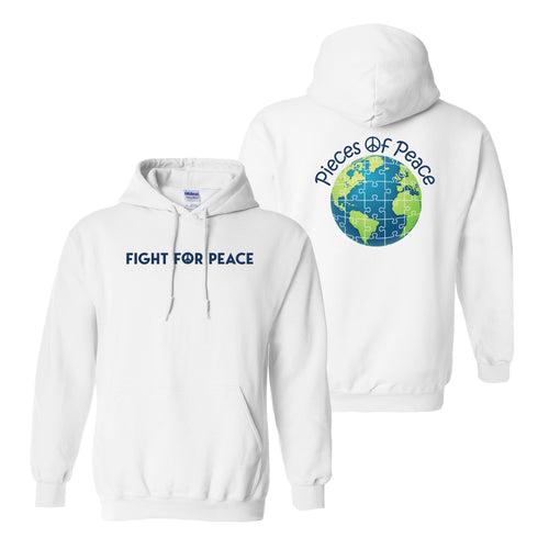 Fight For Peace Heavy Cotton Hoodie - White