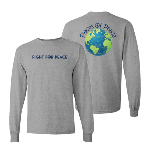 Fight For Peace Unisex Long-Sleeve T-shirt - Grey