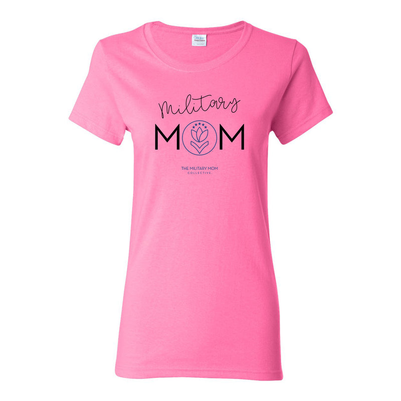 Military Mom Missy Fit T-shirt - Azalea