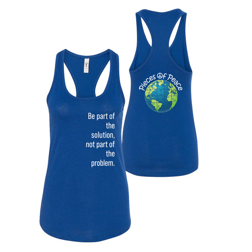 Part Of The Solution Racerback Tank Top - Royal