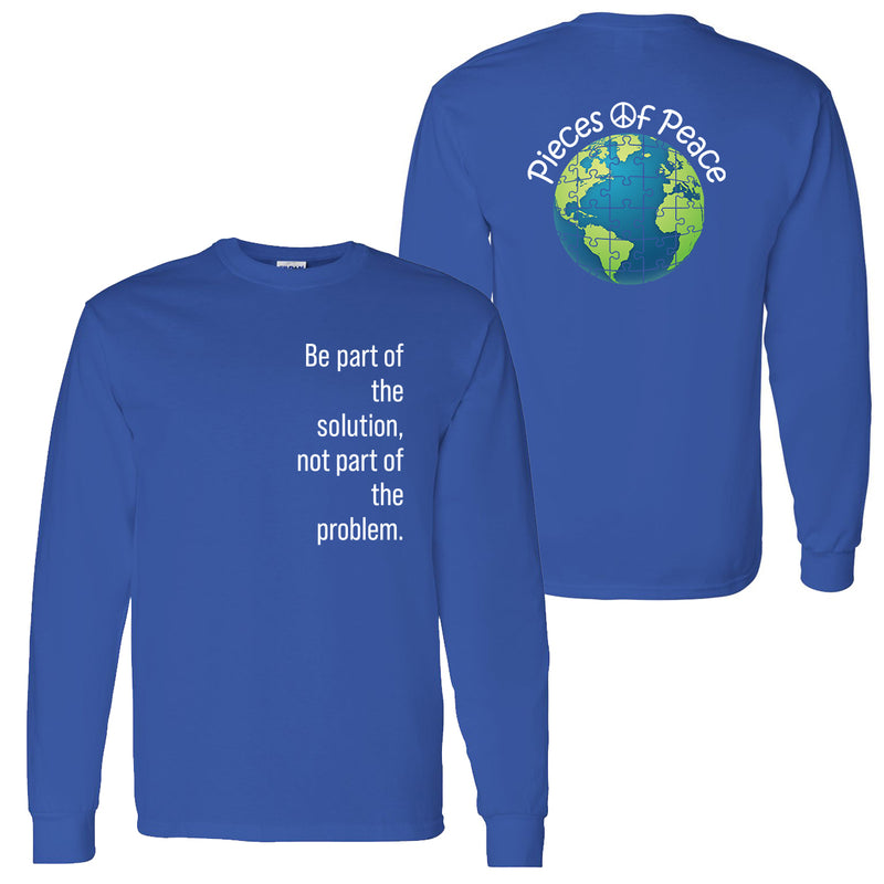 Part Of The Solution Unisex Long-Sleeve T-shirt - Royal