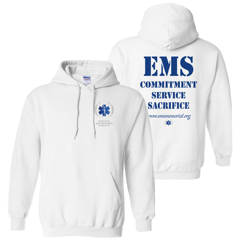 National EMS Memorial Unisex Hoodie - White