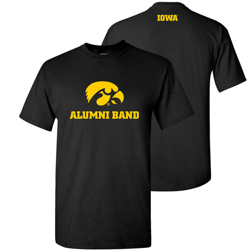 University of Iowa Alumni Band T Shirt - Black