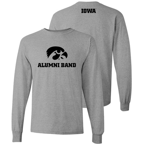 University of Iowa Alumni Band Long Sleeve T Shirt - Sport Grey