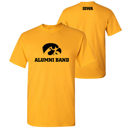 University of Iowa Alumni Band T Shirt - Gold