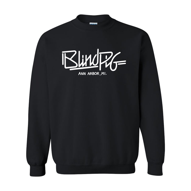 Blind Pig Typeface 1 Heavy Cotton Sweatshirt - Black