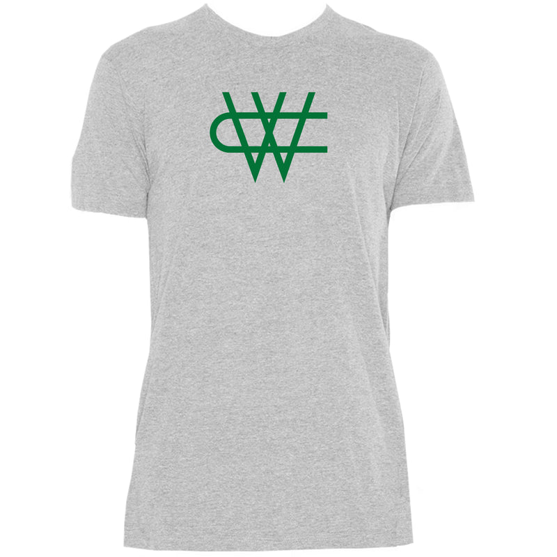 CW Triblend Green Logo- Athletic Grey