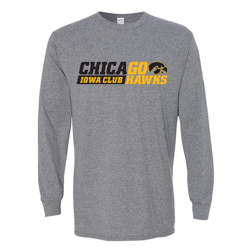I Club Chicago Long Sleeve T-Shirt - Graphite Heather