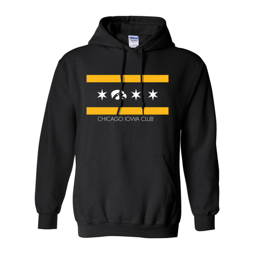 I Club Chicago Pullover Hoodie - Black