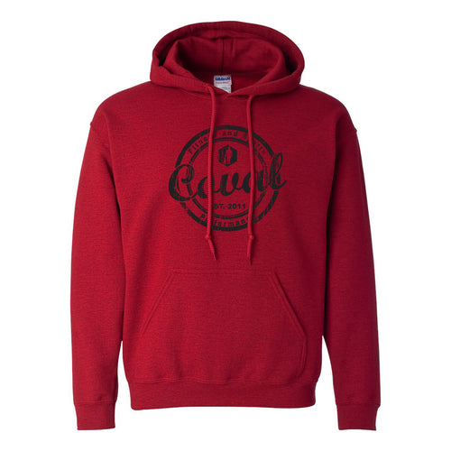 Coval Round Hooded Sweatshirt - Antique Cherry Red
