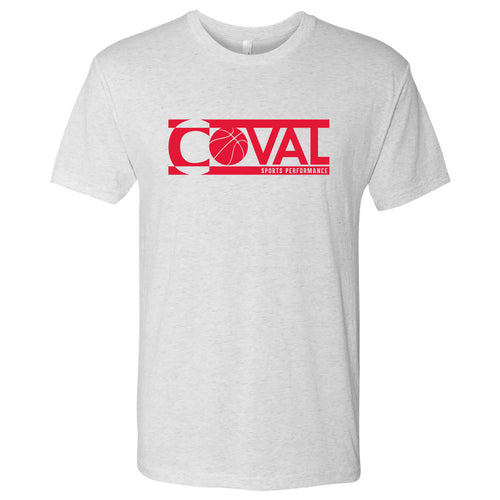 Coval Basketball Logo Triblend Tee - Heather White
