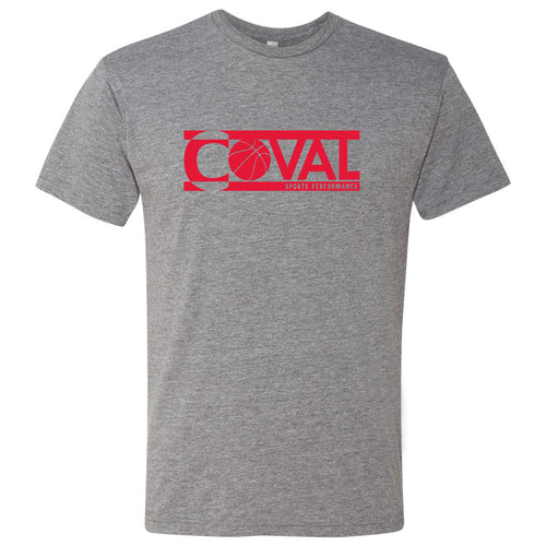 Coval Basketball Logo Triblend Tee - Premium Heather