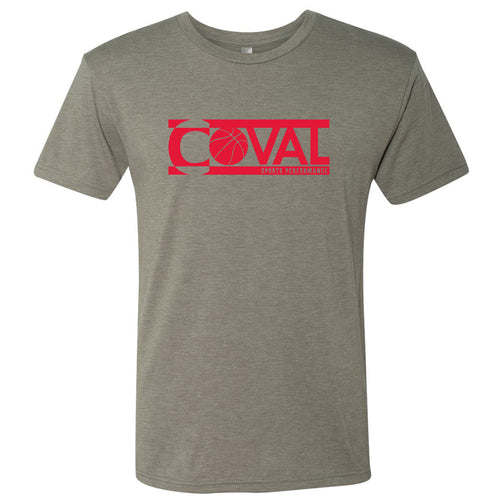 Coval Basketball Logo Triblend Tee - Venetian Grey