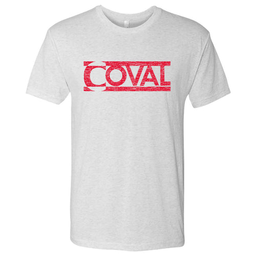 Coval Logo Triblend Tee - Heather White