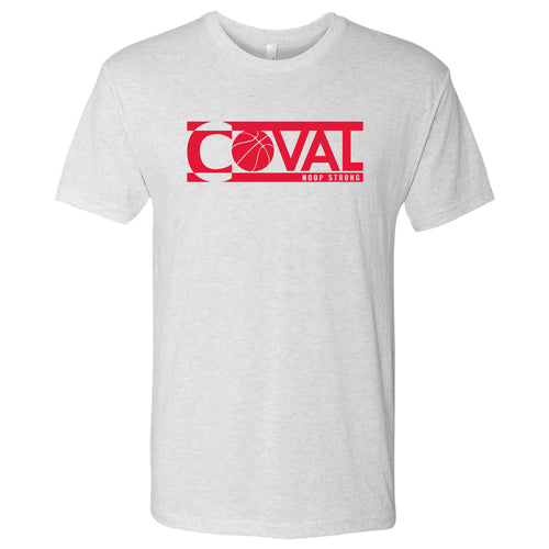 Coval Basketball Logo Hoop Strong Triblend Tee - Heather White