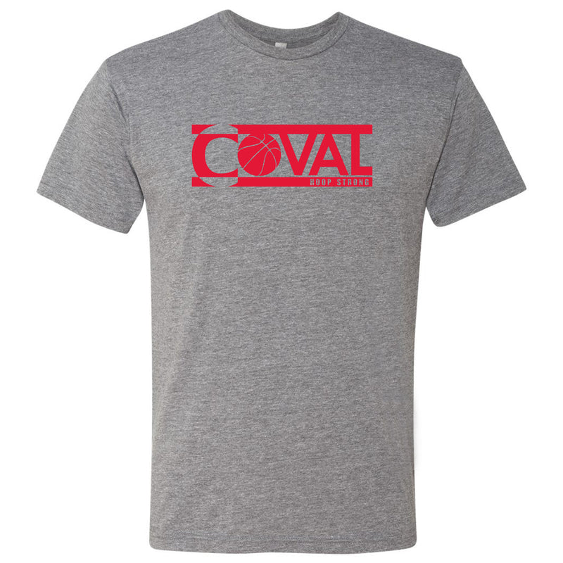 Coval Basketball Logo Hoop Strong Triblend Tee - Premium Heather