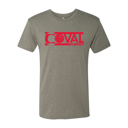 Coval Basketball Logo Hoop Strong Triblend Tee - Venetian Grey