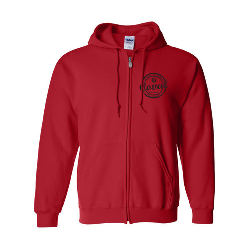 Coval Round Zip-Up Hoodie - Antique Cherry Red