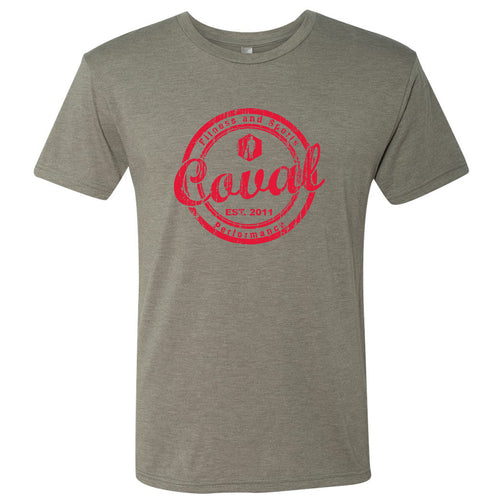 Coval Round Triblend Tee - Venetian Grey