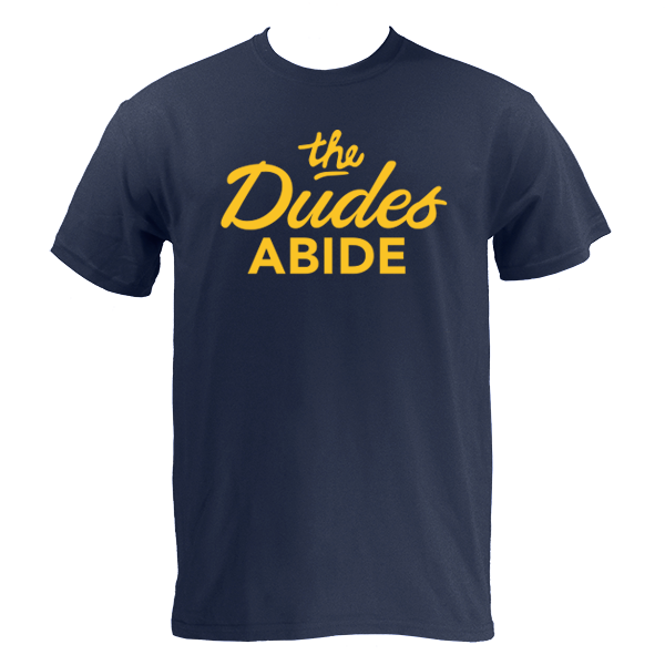 The Dudes Abide Script - Navy