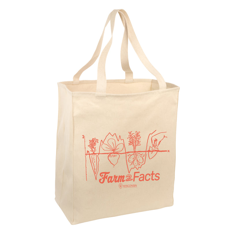 Farm 2 Facts Natural Tote Bag