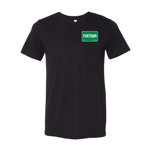 Funtown Left Chest Logo T-shirt - Black
