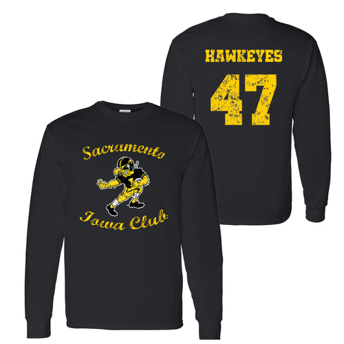 Sacramento Iowa Club Long Sleeve T Shirt - Black