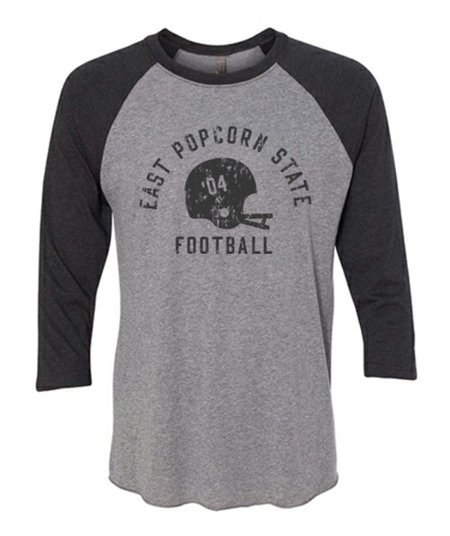 East Popcorn State University 3/4 Sleeve - Premium Heather/Vintage Black